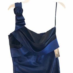 NWT As You Wish black & deep blue cocktail dress